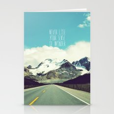 never lose your sense of wonder Stationery Cards