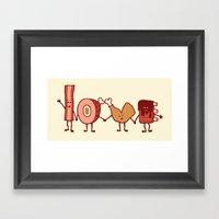 Meat Love U Framed Art Print