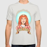 St. Leeloo Of The Big Ba… Mens Fitted Tee Silver SMALL
