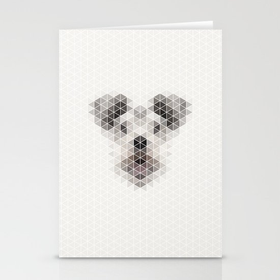 Happy pup Stationery Card