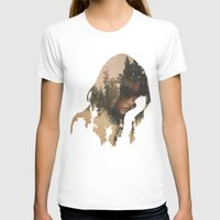 woman T-shirts featuring Lost In Thought by Davies Babies