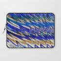 Blue Mountains and waves Laptop Sleeve