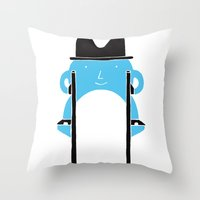 Mr Blue Boy Throw Pillow