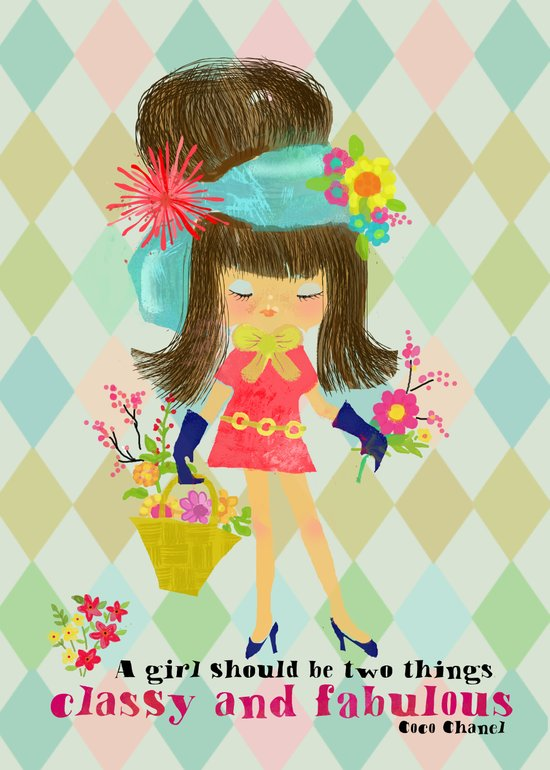 fabulous girl Art Print