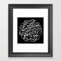 Everything in it's right place Framed Art Print