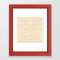 UMBRELLA - PEACH Framed Art Print