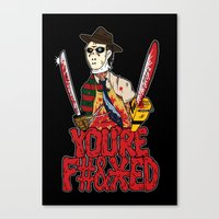 Slasher Mash (NSFW) Canvas Print