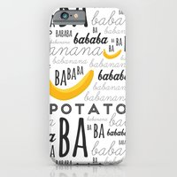 iPhone Cases featuring Minion - banana by Jane Mathieu