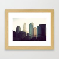 Downtown LA Framed Art Print