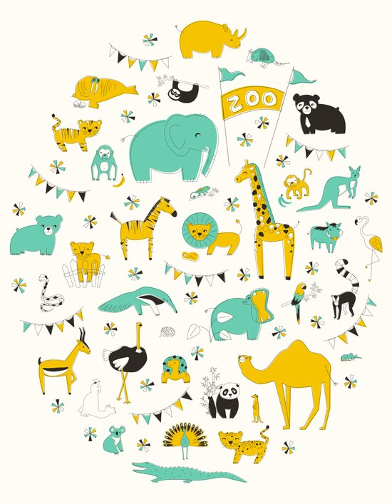 Let's Go To The Zoo Art Print