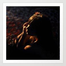 Girl in Shadows Art Print