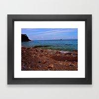 Beach: Amalfi Coast, Italy Framed Art Print