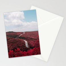 red landscape Stationery Cards