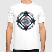 Mandala Mens Fitted Tee White SMALL