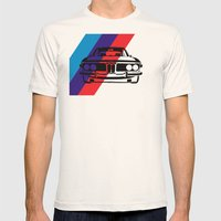 BMW E9 Mens Fitted Tee Natural SMALL