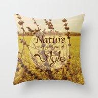 Mustard Plant Throw Pillow