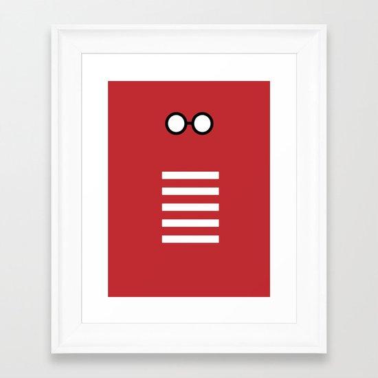 Where's Waldo Minimalism Framed Art Print
