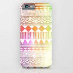 rainbow galaxy navajo tribal pattern iPhone 6 Slim Case