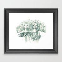 Hollow Twins Framed Art Print