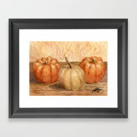 Mini Pumpkins I Framed Art Print