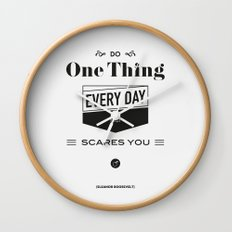 Roosevelt Quote, USA President, words of wisdom Wall Clock