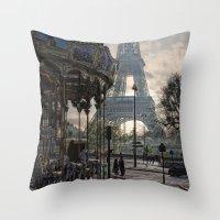 Manège Parisienne Throw Pillow