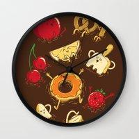 Chocolate Dip Party Wall Clock