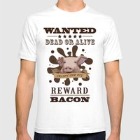 A Wanted Pig Don't Want … Mens Fitted Tee White SMALL
