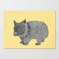 Little Wombat Canvas Print