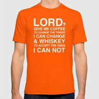 Lord Mens Fitted Tee Orange SMALL