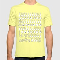 I Heart Bowling  Mens Fitted Tee Lemon SMALL