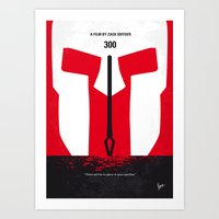 No001 My 300 minimal movie poster Art Print