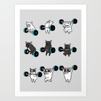 OLYMPIC LIFTING FRENCHIE Art Print