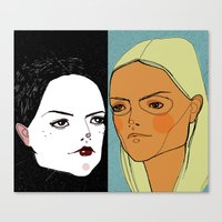 Canvas Print featuring Sister Sister by Le Butthead