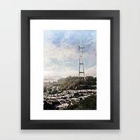The Peaks Framed Art Print