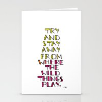 wild things - san cisco Stationery Cards