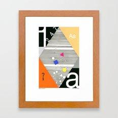 History Framed Art Print