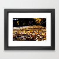 Central Park Leaves Framed Art Print