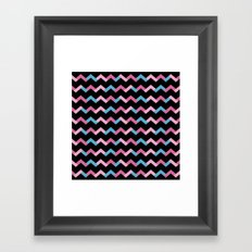 Geometric Chevron Framed Art Print