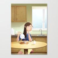 Absen-Tea Canvas Print