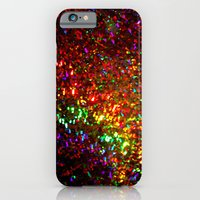 Fascination in gold-photograph of colorful lights iPhone 6 Slim Case