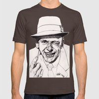 Frank Mens Fitted Tee Brown SMALL