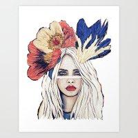 Gypsy Warrior Art Print