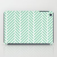 Herringbone Mint Zoom iPad Case