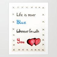Valentine's: Never Blue Art Print