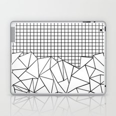 Abstract Grid #2 Black on White Laptop & iPad Skin