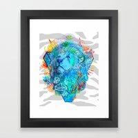 Fire Lion Framed Art Print