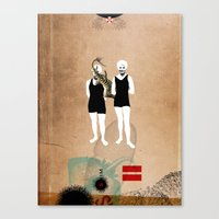 Swimmers Canvas Print