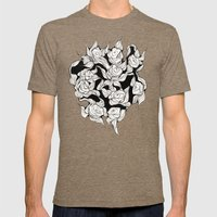 Abstract roses Mens Fitted Tee Tri-Coffee SMALL