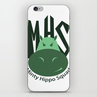 Minty Hippo Squad iPhone & iPod Skin